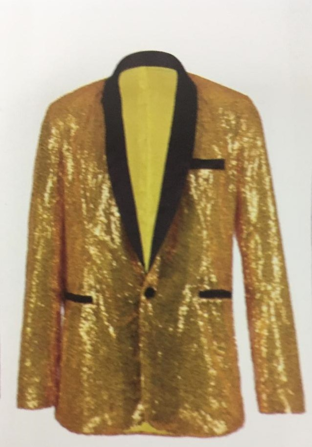 Mens sparkly sequin Gold jacket